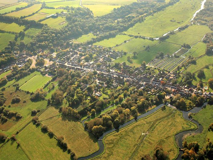 Aerial view of Stockbridge
